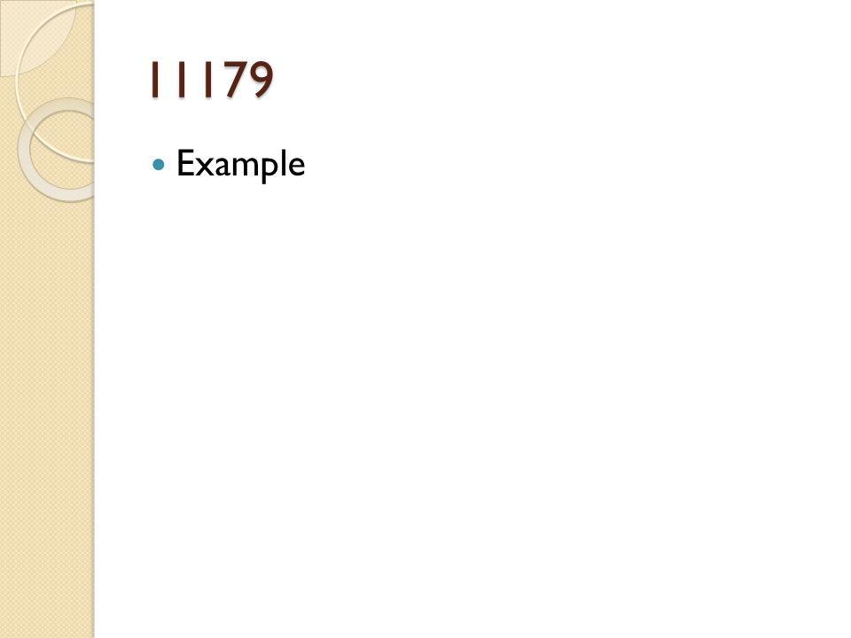11179 Example