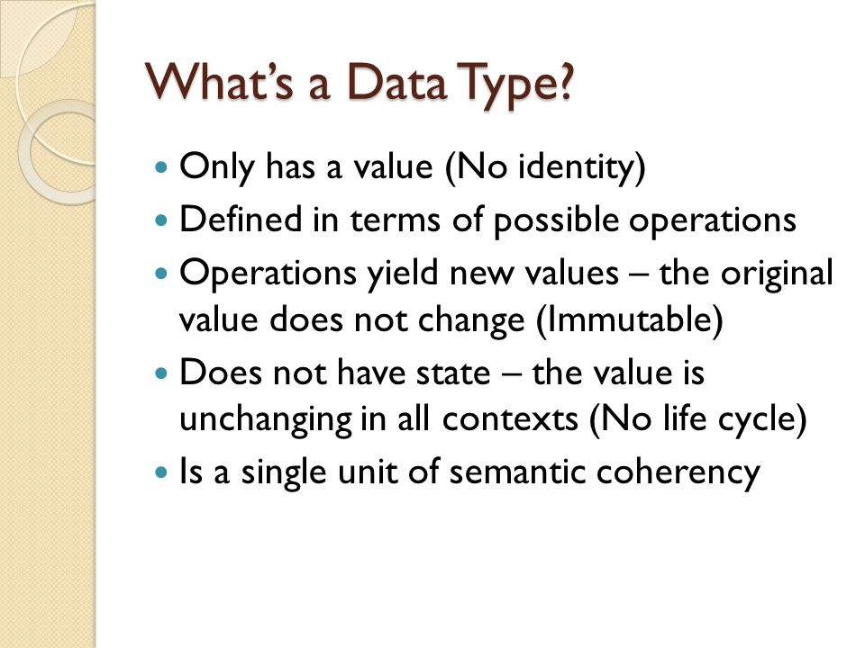 What's a Data Type.
