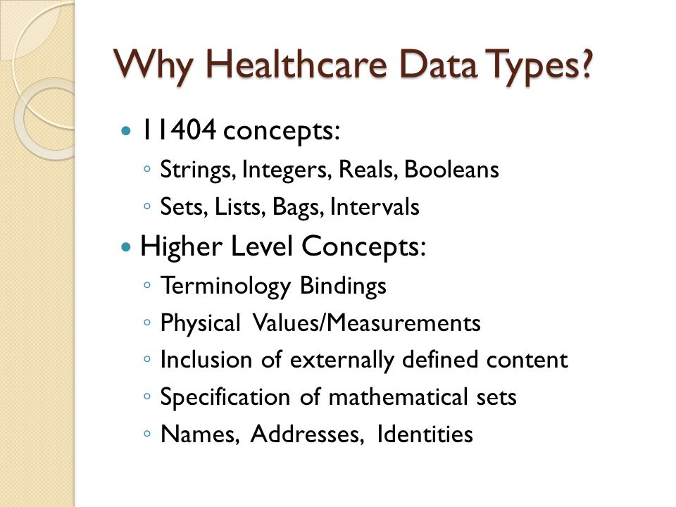 Why Healthcare Data Types.