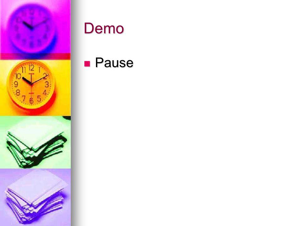 Demo Pause Pause