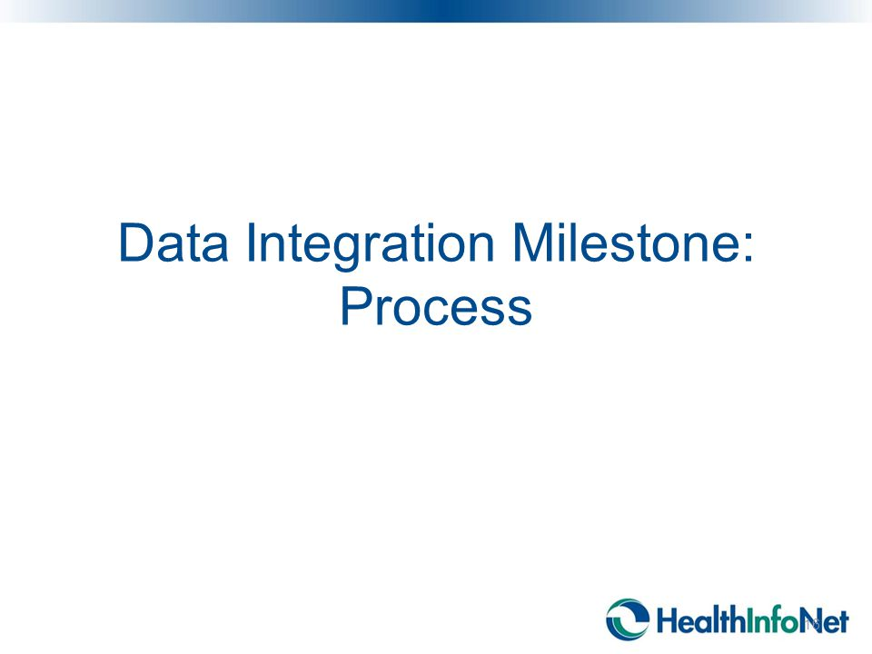 Data Integration Milestone: Process 16