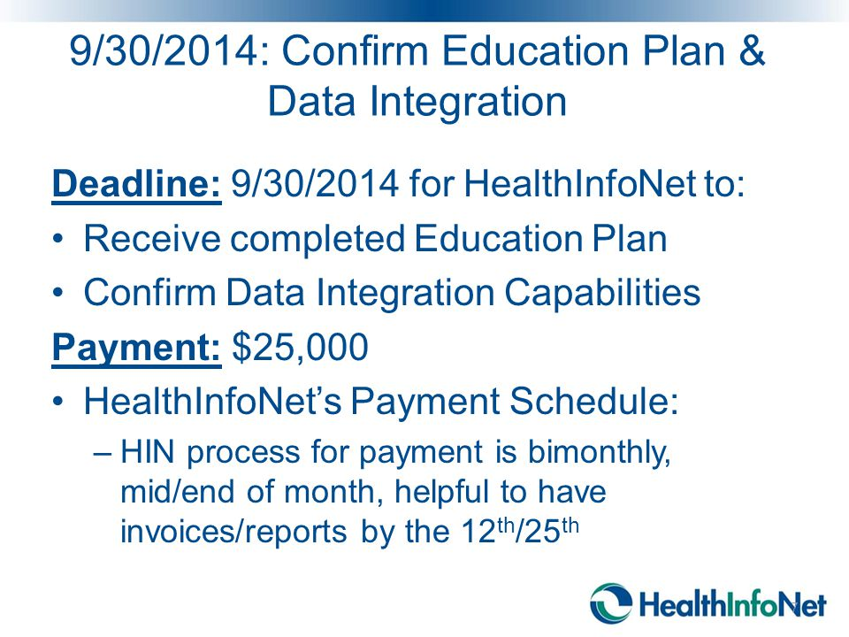 Milestone 1: Confirm Plan for Staff & Client Education on Communications about HIE Gemma Cannon, Behavioral Health Program Coordinator 8