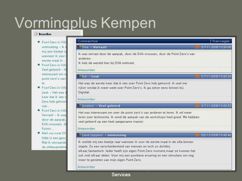 Mindex, Internet Consulting Services 10 Vormingplus Kempen