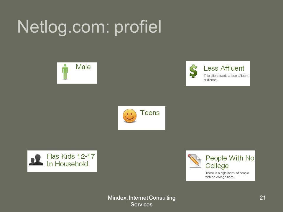 Mindex, Internet Consulting Services 21 Netlog.com: profiel
