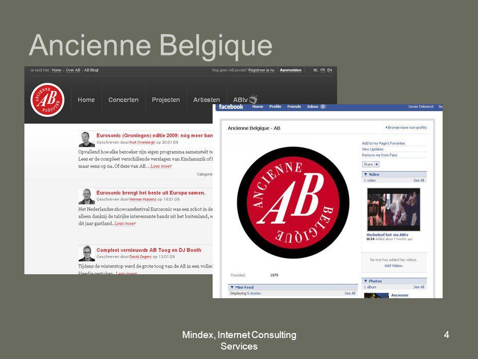 Mindex, Internet Consulting Services 4 Ancienne Belgique