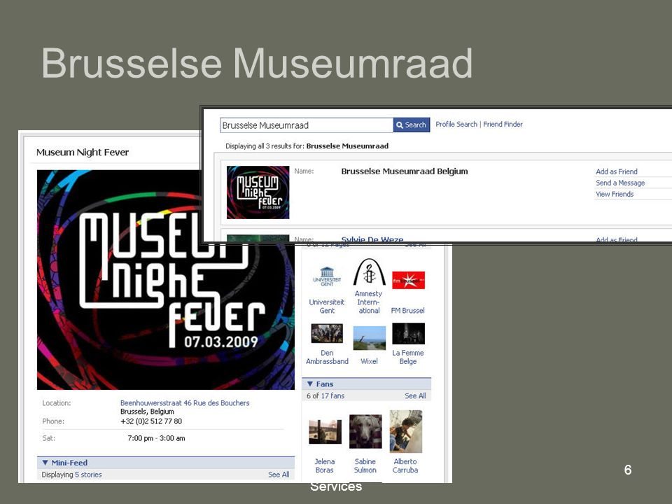 Mindex, Internet Consulting Services 6 Brusselse Museumraad
