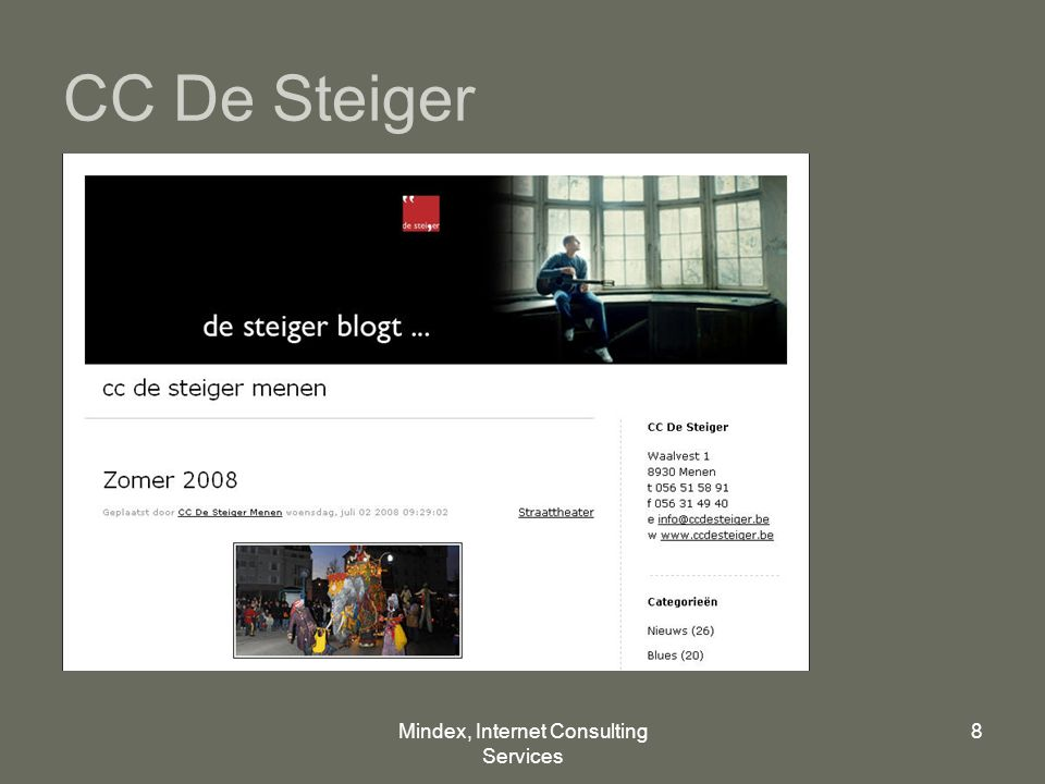 Mindex, Internet Consulting Services 8 CC De Steiger