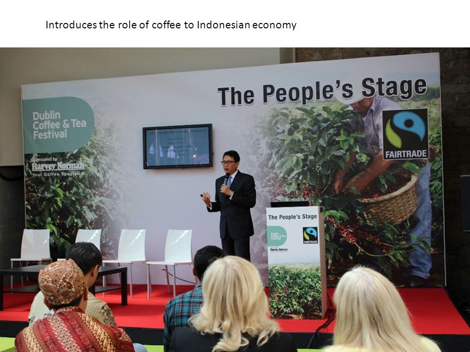 Introduces the role of coffee to Indonesian economy