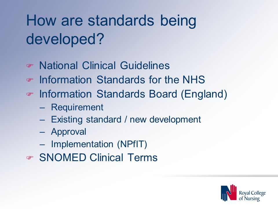 How are standards being developed.