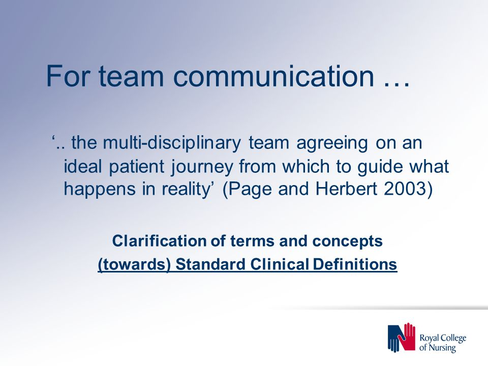 For team communication … '..