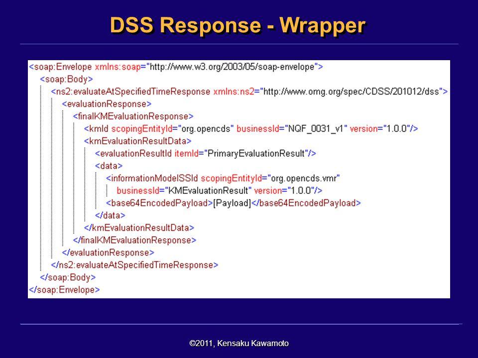 ©2011, Kensaku Kawamoto DSS Response - Wrapper