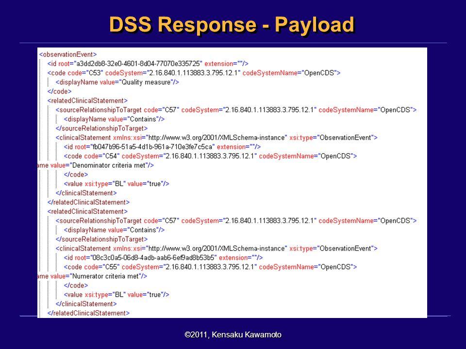 ©2011, Kensaku Kawamoto DSS Response - Payload