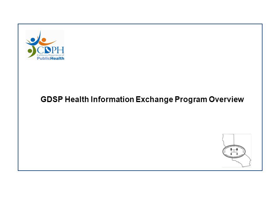 GDSP Health Information Exchange Program Overview
