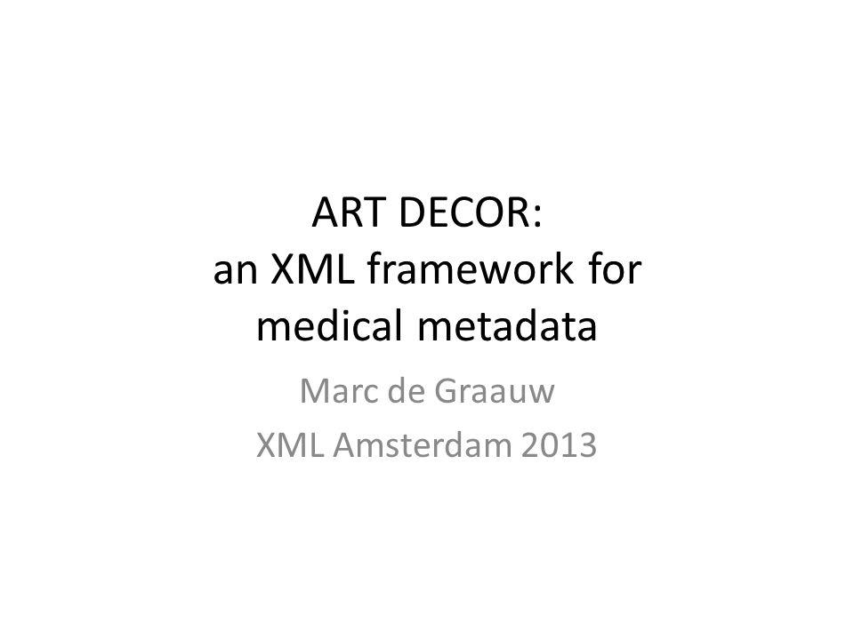 StakeholdersARTDECOR HTML XML Outputs HealthcareTerminologistsICT Architects HL7v3 modellers IT vendorsTesting dataset project scenario issues value sets identi- fications rules CSV
