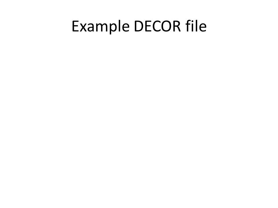 Example DECOR file