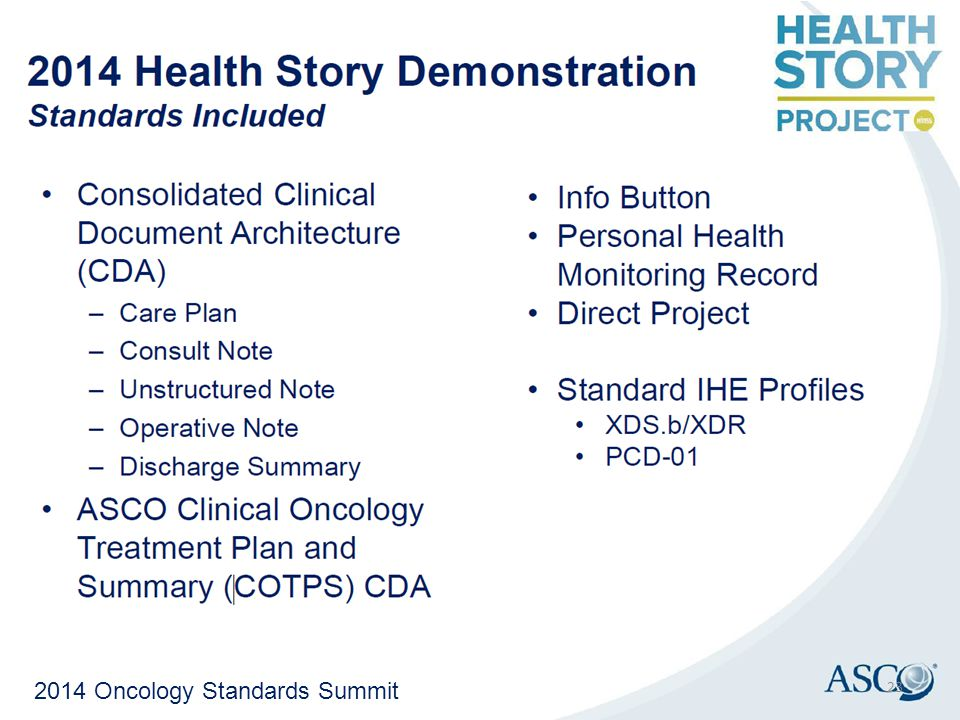 2014 Oncology Standards Summit 23