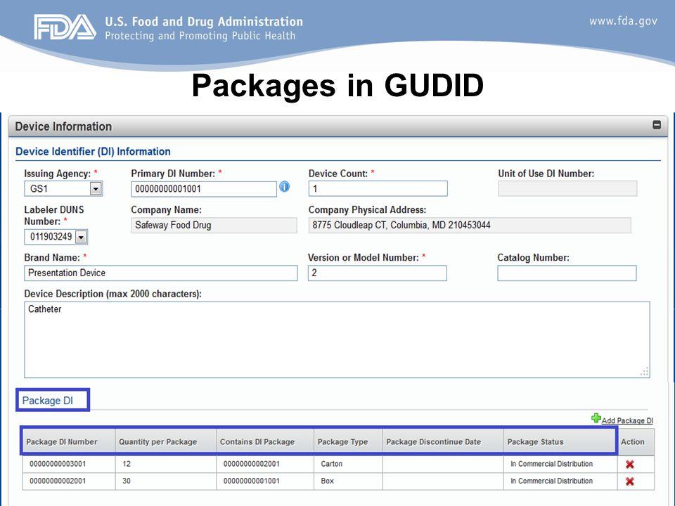 37 Packages in GUDID