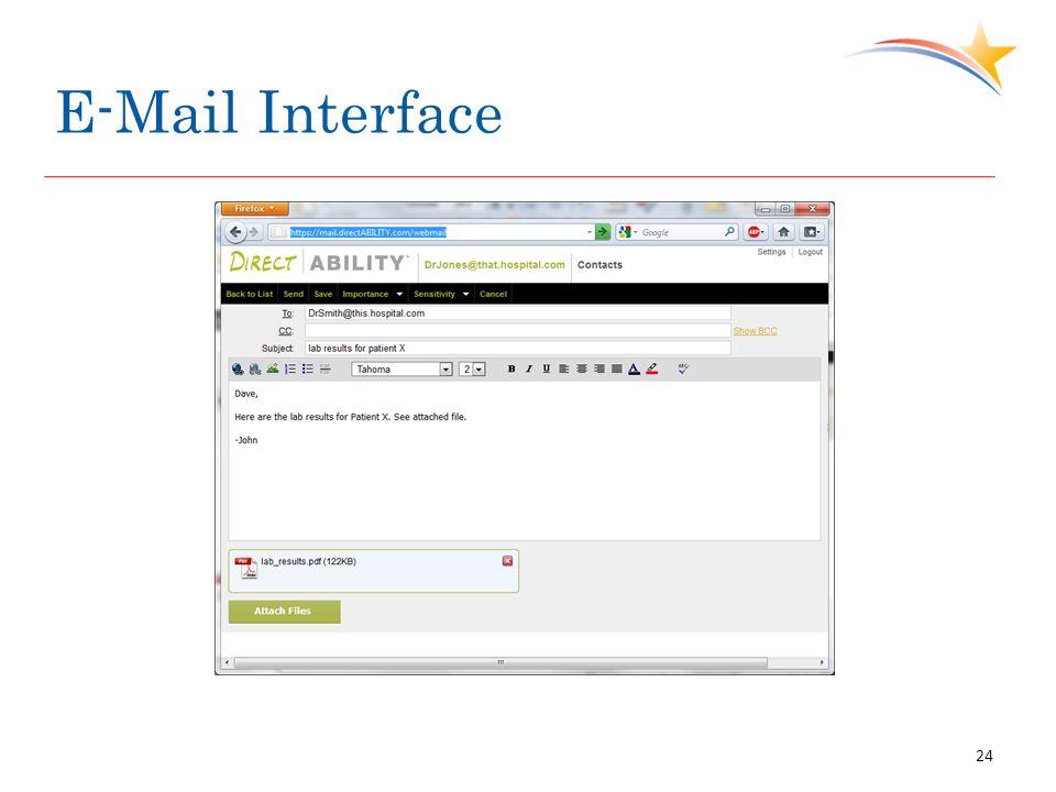 E-Mail Interface 24
