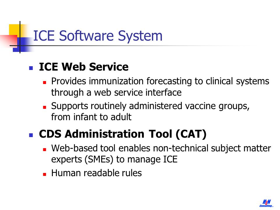 20 Summary of the ICE Software System Freely available Standards-based Easily integrates with other systems Maintainable by non-developers Collaboratively developed Transparent Can be leveraged for other types of CDS