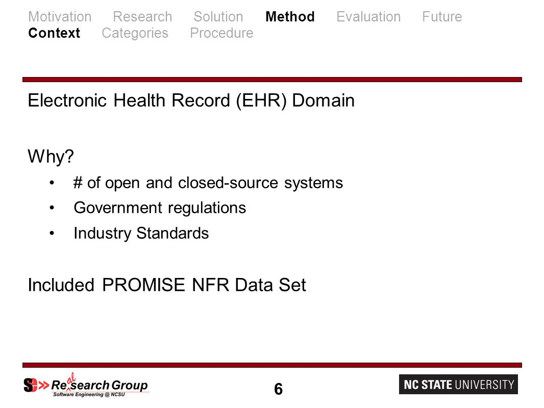 Electronic Health Record (EHR) Domain Why.