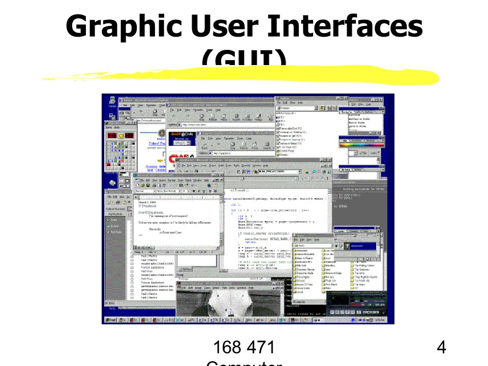 168 471 Computer Graphics, KKU. Lecture 1 4 Graphic User Interfaces (GUI)