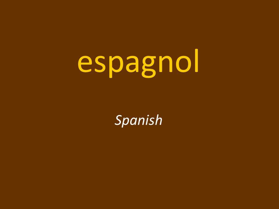 espagnol Spanish