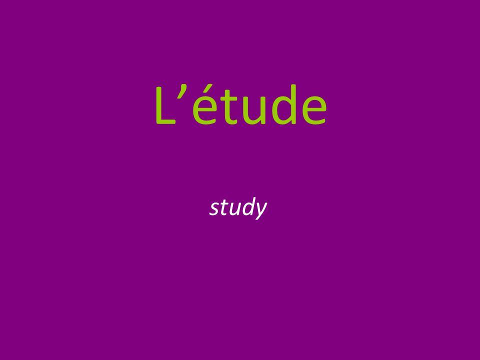 L'étude study
