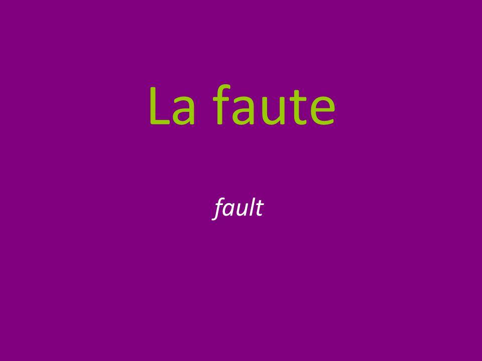 La faute fault