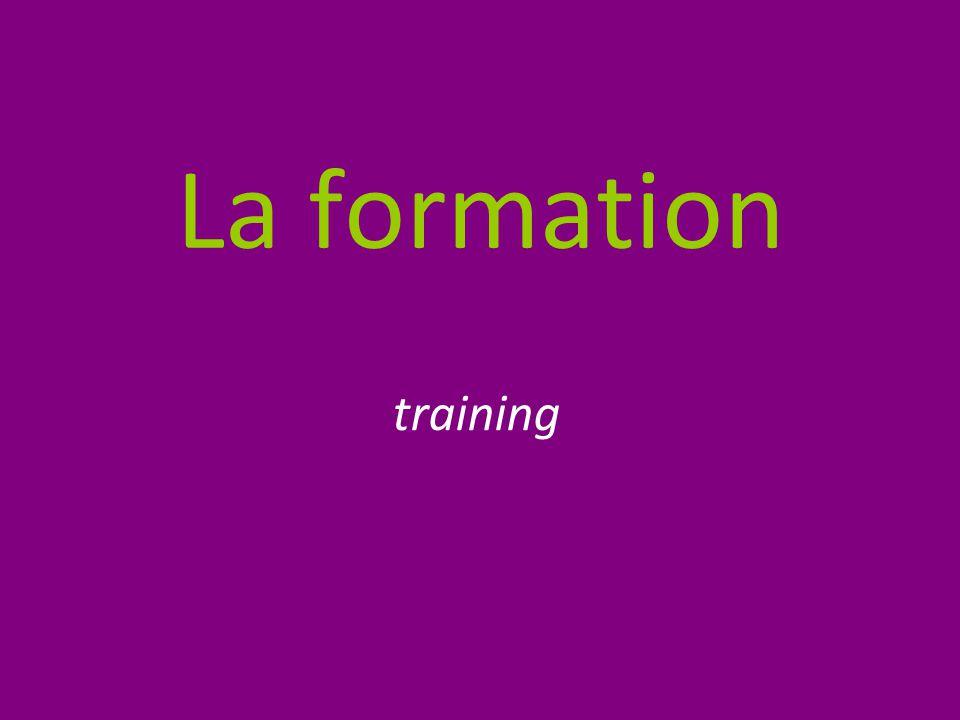 La formation training