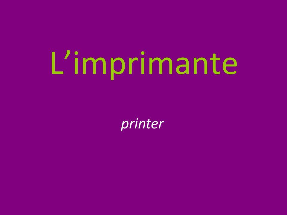 L'imprimante printer