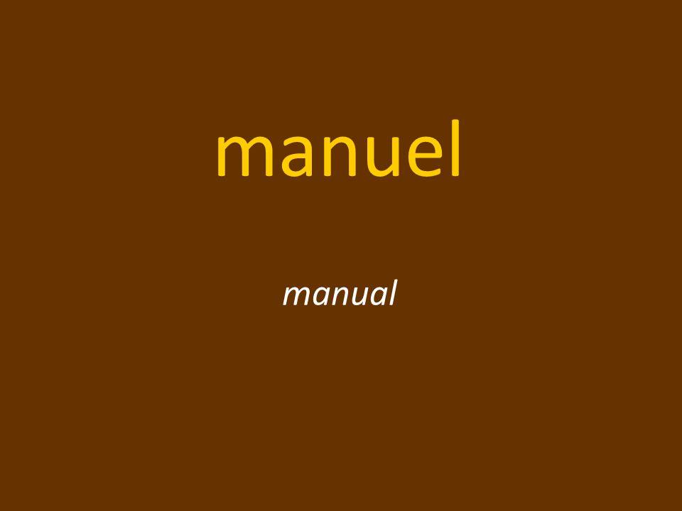 manuel manual
