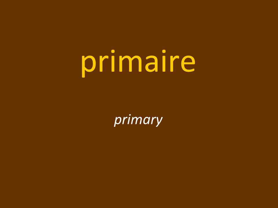 primaire primary