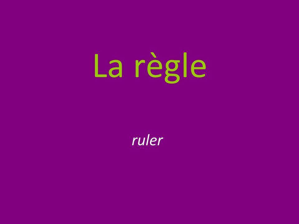 La règle ruler