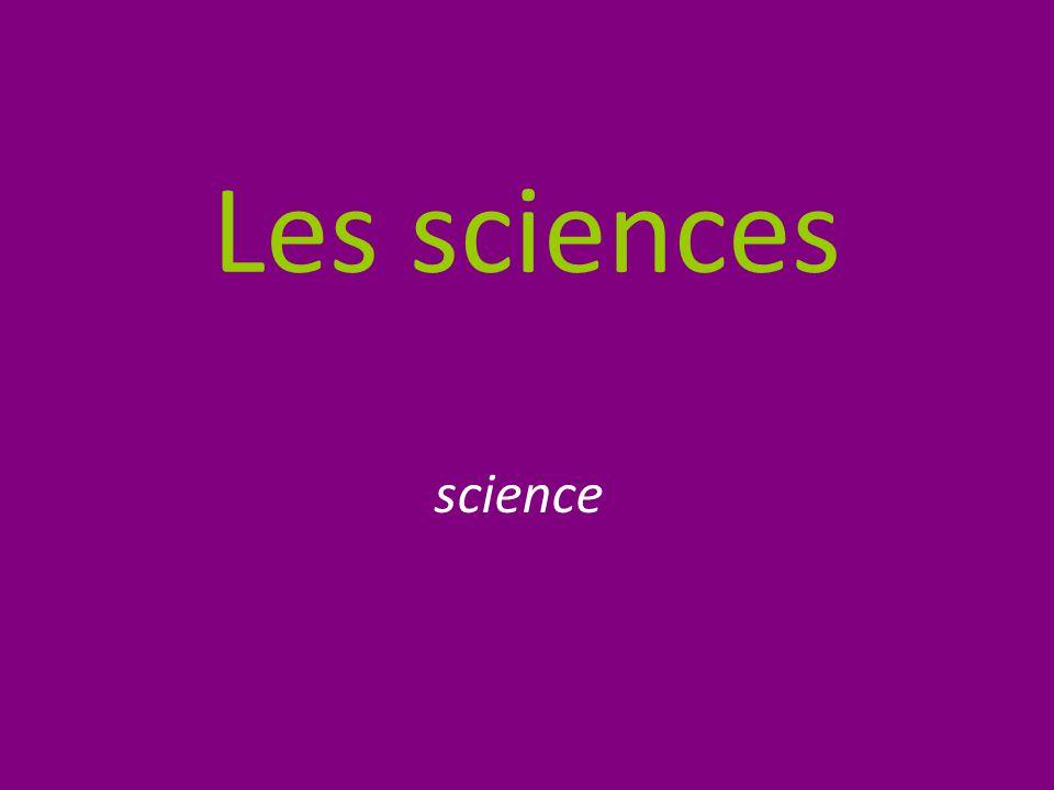 Les sciences science