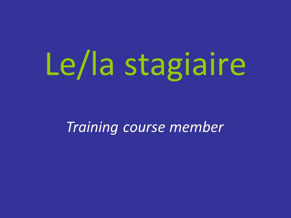 Le/la stagiaire Training course member