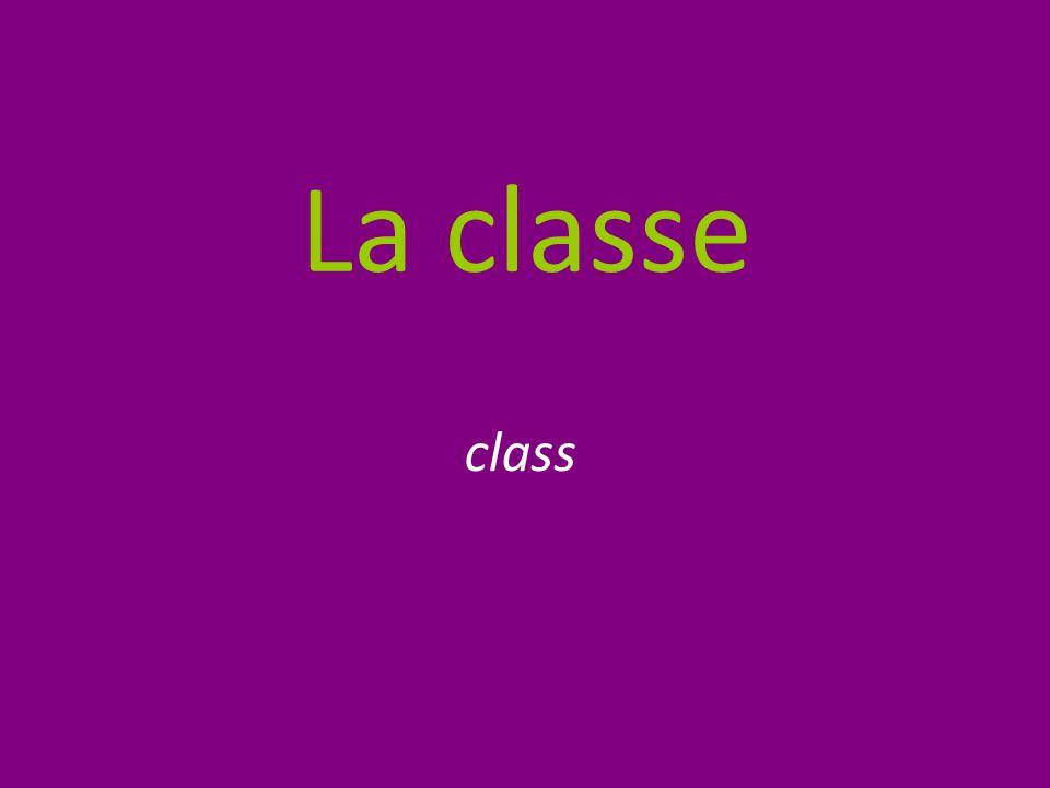 La classe class