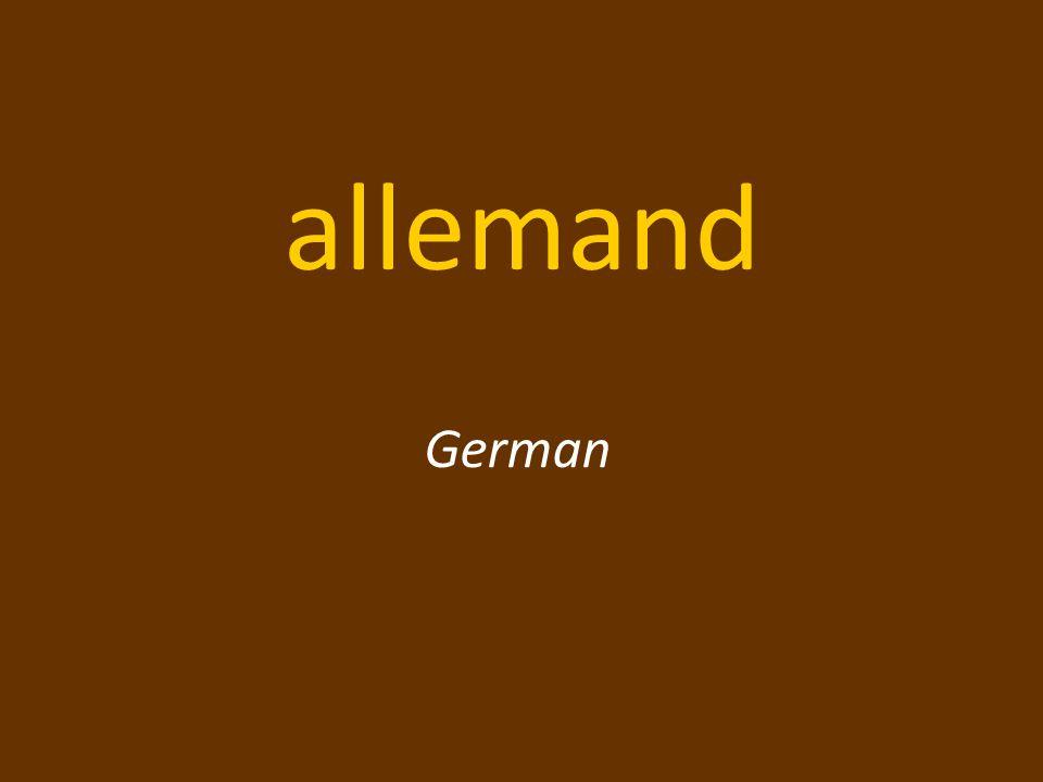 allemand German