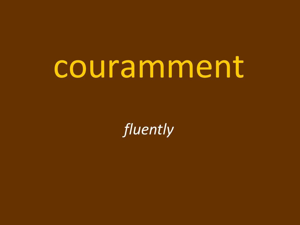 couramment fluently