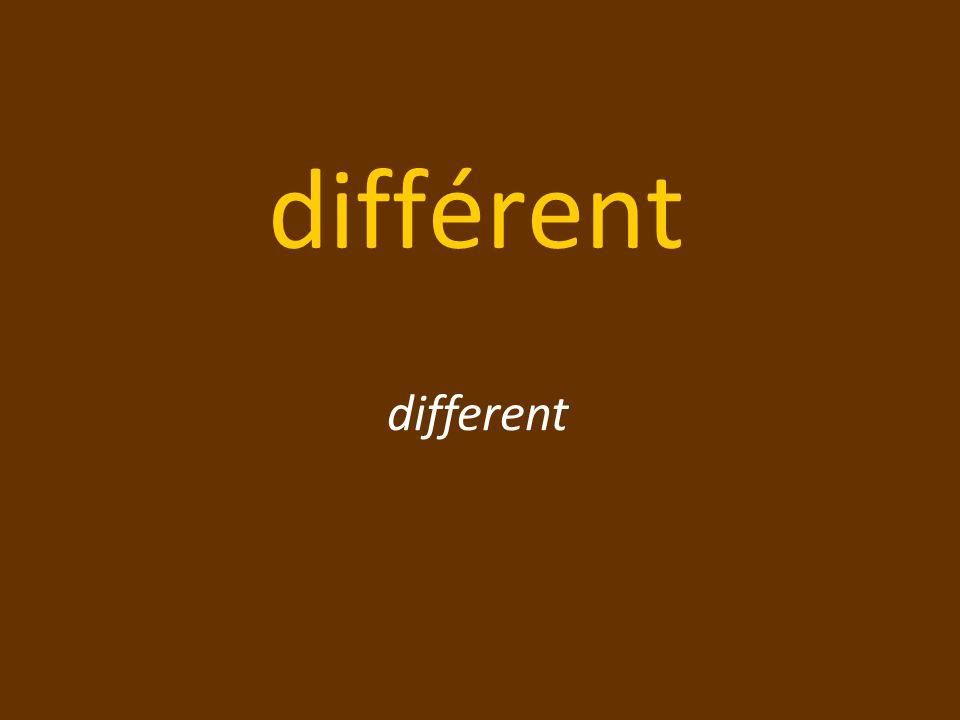différent different