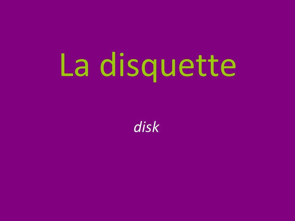La disquette disk