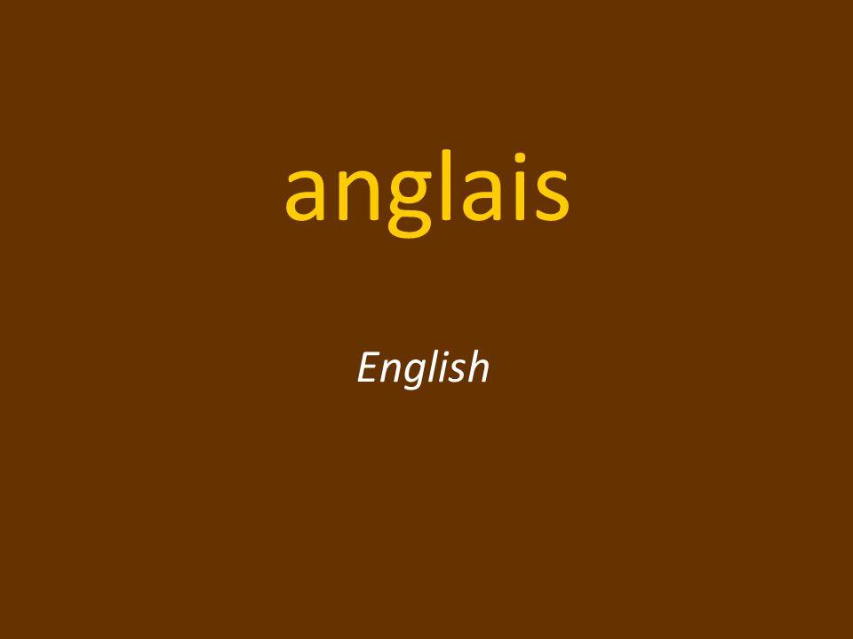 anglais English