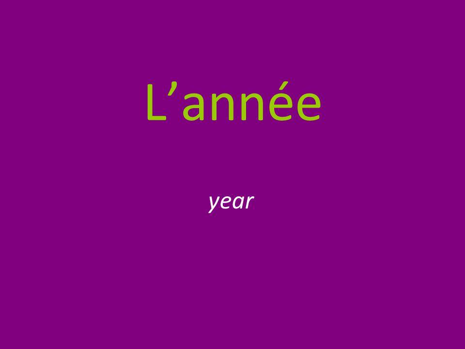 L'année year