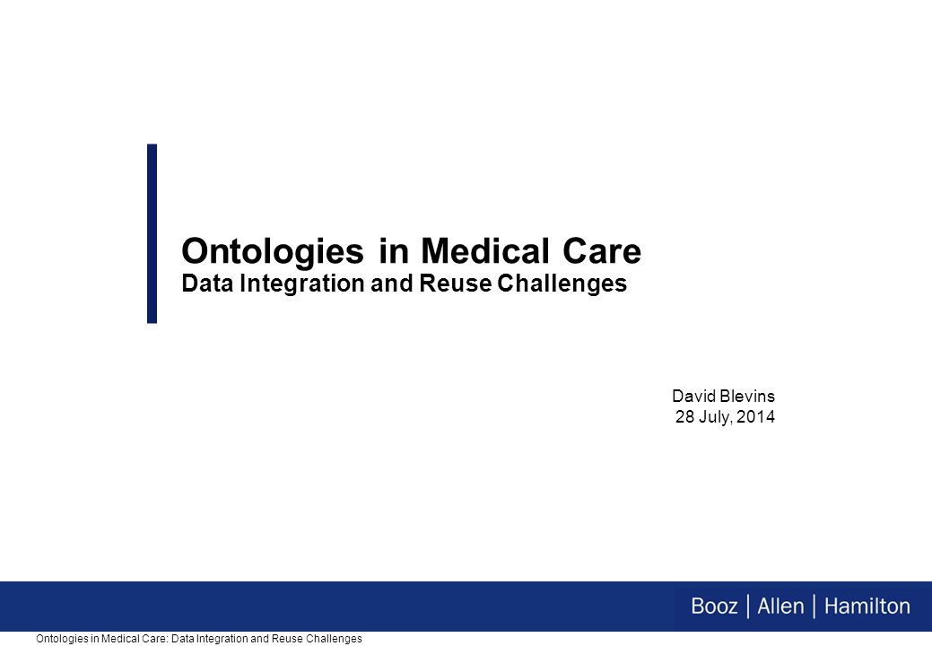 11 HL7 is a series of tubes, treated like a truck  Making the standard perform activities it was never meant to handle  Example: Device interfaces Ontologies in Medical Care: Data Integration and Reuse Challenges