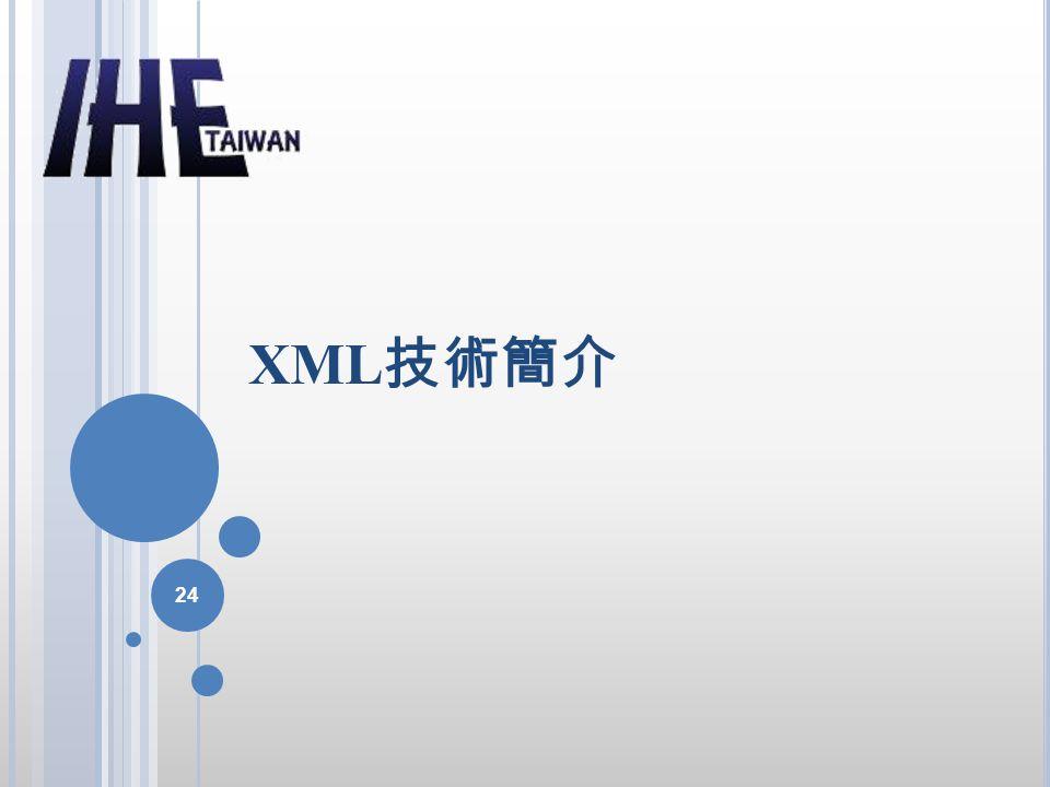 XML 技術簡介 24