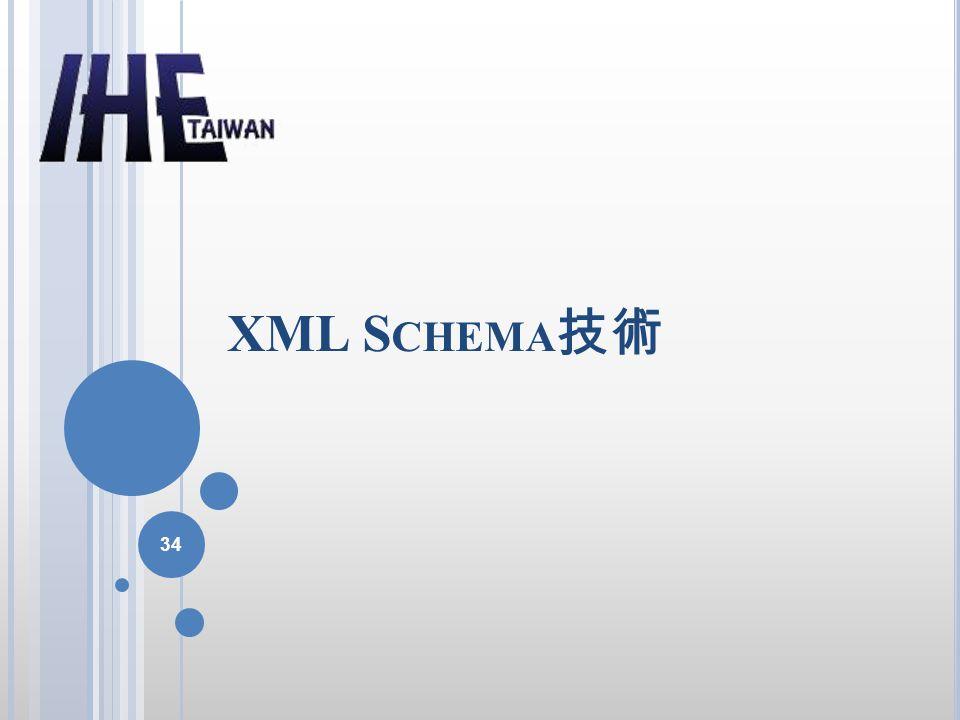 XML S CHEMA 技術 34