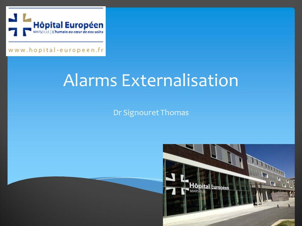 Dr Signouret Thomas Alarms Externalisation