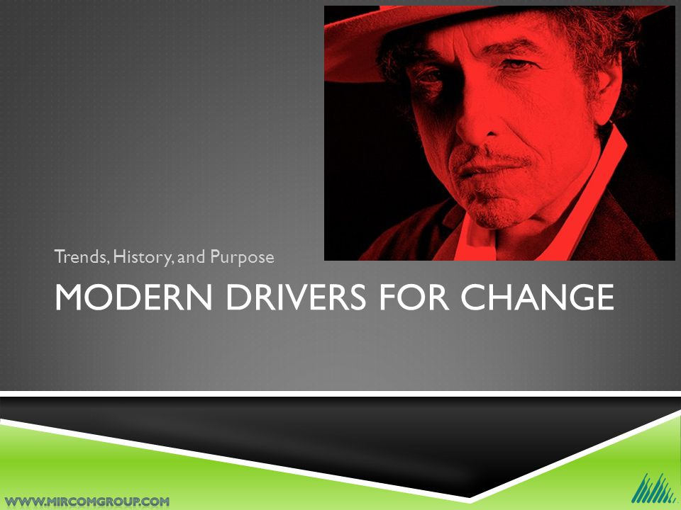 MODERN DRIVERS FOR CHANGE Trends, History, and Purpose