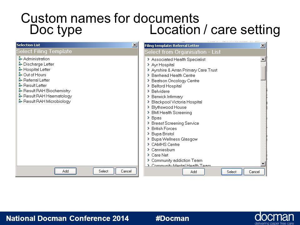 National Docman Conference 2014 #Docman Specialty: