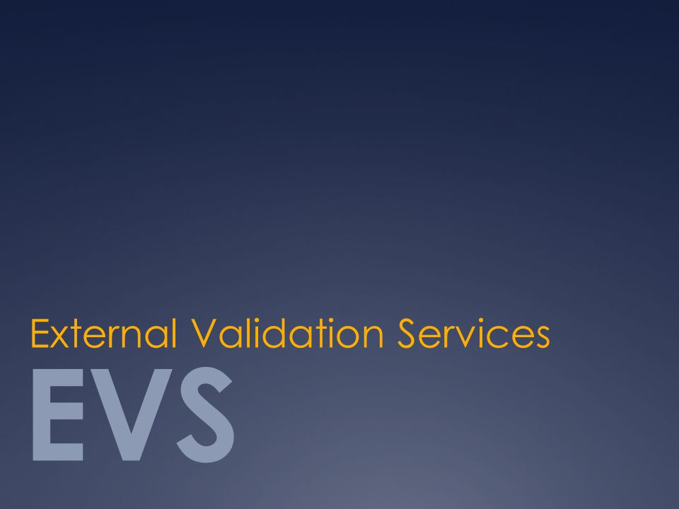 EVS External Validation Services
