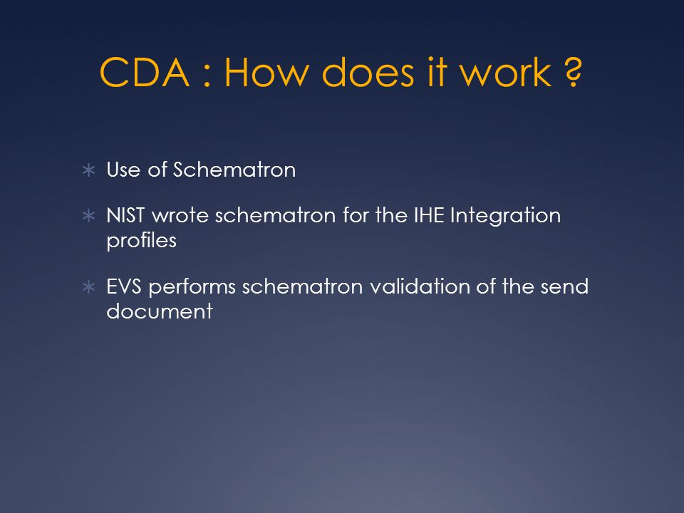CDA : How does it work .